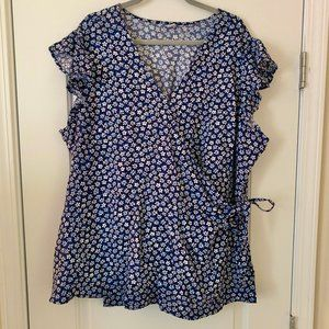 Old Navy Size 4X Wrap Blouse